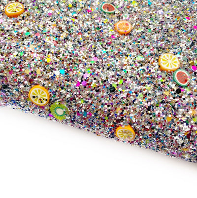 Fruit Glitter Surprise Chunky Glitter Fabric Sheets