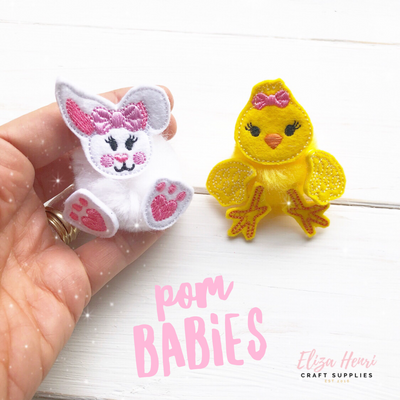 Pom Babies Chick and Bunny Felties