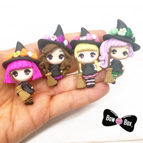 EXCLUSIVE Witch Girl Clay Charms