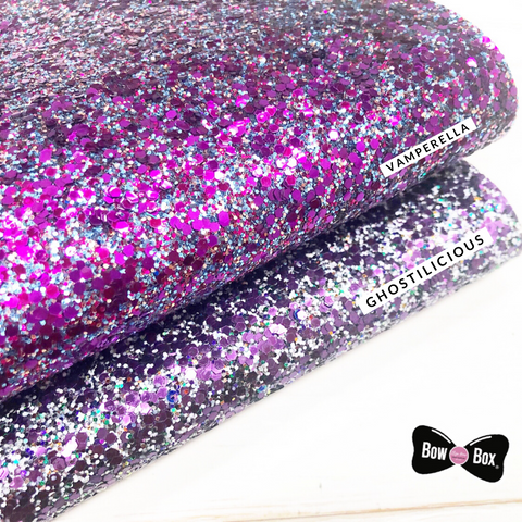 Halloween Textured Extra Chunky Glitter Fabric