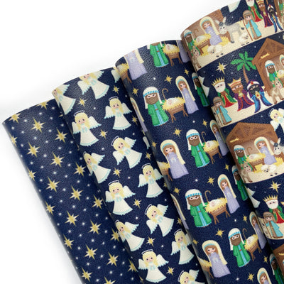 The Nativity Story Smooth Faux Leather Fabric