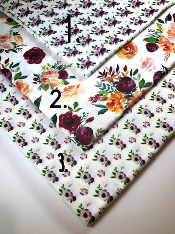 Autumn Plum Floral Artisan Fabric Felt Collection