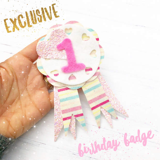 Birthday Badge Template for handcutting