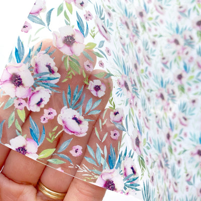 Floral Transparent TPU Fabric Sheets