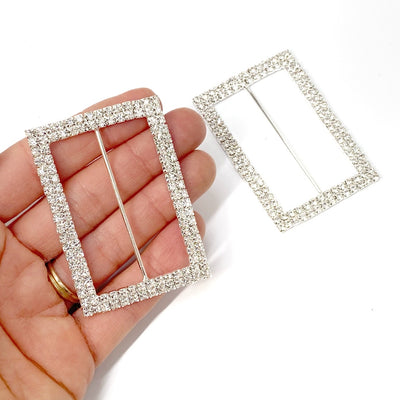 Rectangle Diamonte Buckles