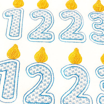 Blue Birthday Candle Number Felties