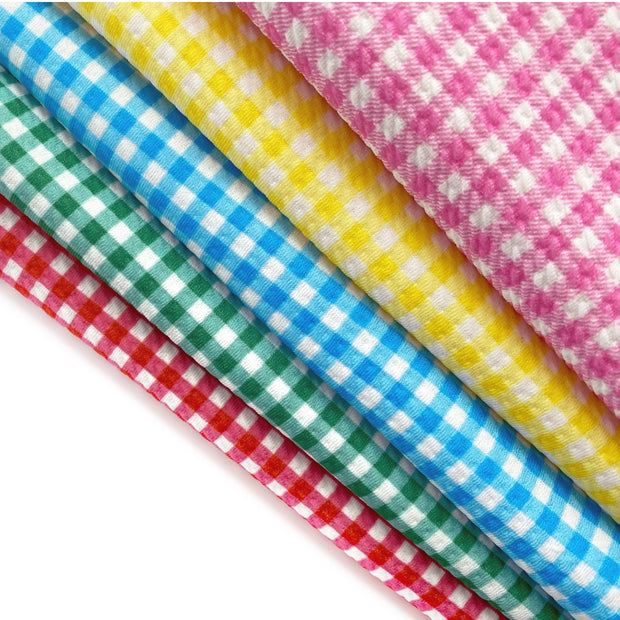 Coloured Gingham Rolly Rolly Bullet Fabric