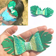 Tropical Leaf Pinch Bow Template