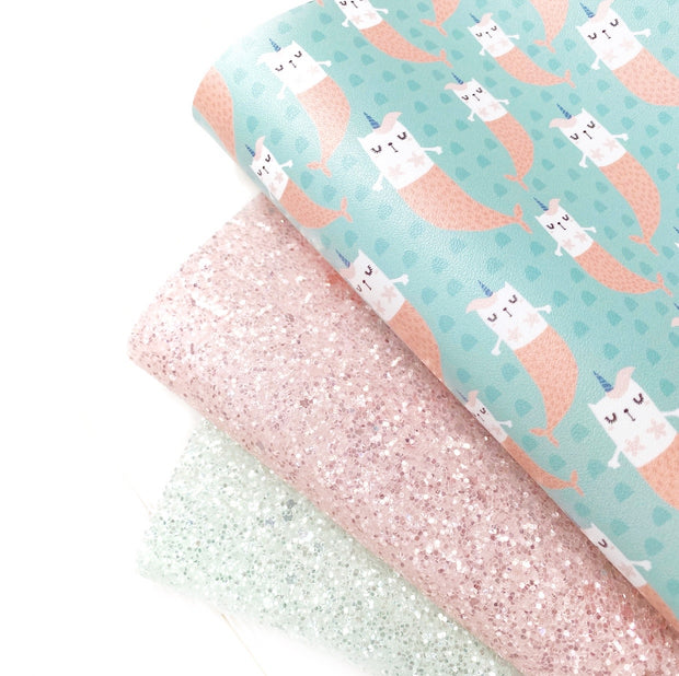 Sweet Little Kittymaid Faux Leather Fabric Sheets