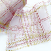 Luxury Checked Glitter Tulle Fabric