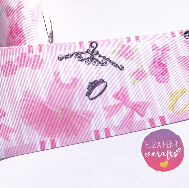 "Ballerina Pretty Dress Up Grosgrain Ribbon 3'', 2"" or 1.5"""