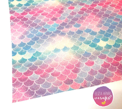 EXCLUSIVE Sorry Mermaids only Fine scales Glitter Fabric