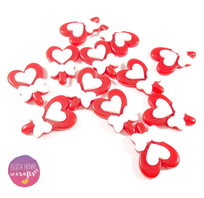 Heart Lollipop Candy Flat Back Charm Embellishments