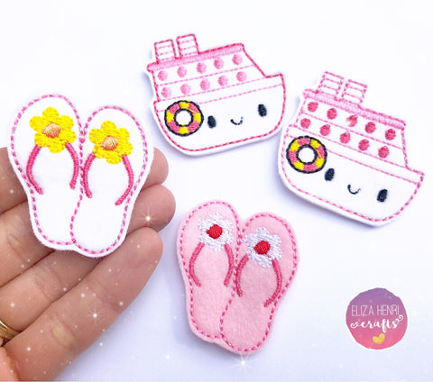 Summer Flip Flops Felties