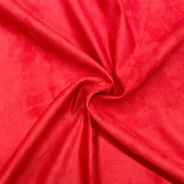 Ruby Red Luxury Suede Kisses Fabric