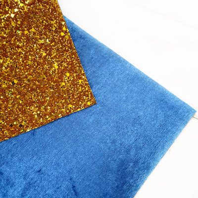 Double Sided King of the Castle Chunky Glitter Fabric
