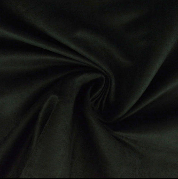 Black Luxury Suede Kisses Fabric