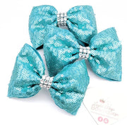 Frozen Lake Blue Sequin Ribbon 3''