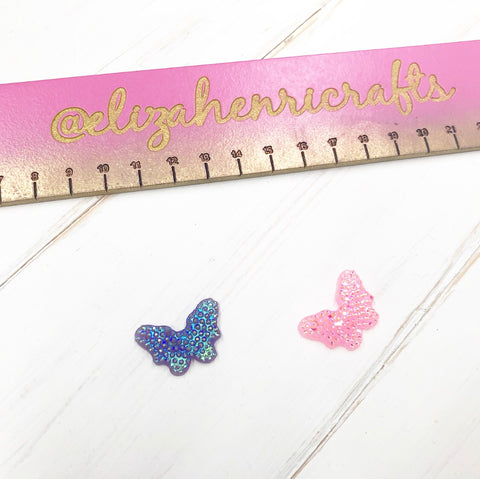 Sparkle Butterfly Flat Back Charm Embellishments