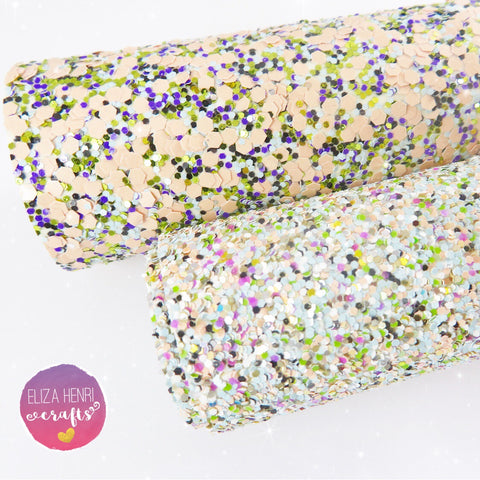 Mermaid Chunky Glitter Fabric Collection