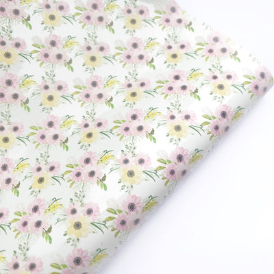Hopping into Spring Floral Patent Fabric Sheets