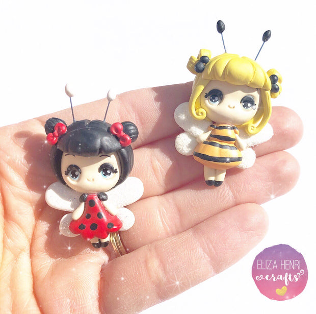 Cute Honey Bee & Ladybird Clays