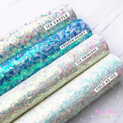 Shimmer Glass esque Glitter Fabric Collection