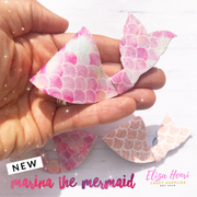 Marina the Mermaid Hair Bow Template- 2 Sizes