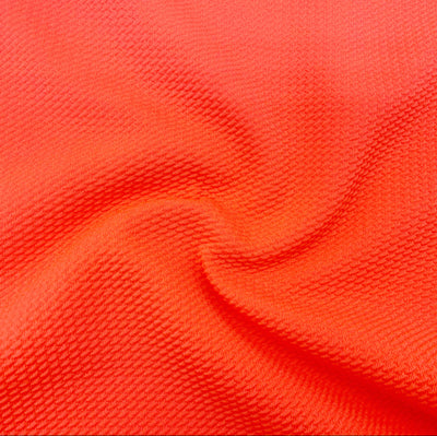 Neon Coral Colour Block Bullet Fabric