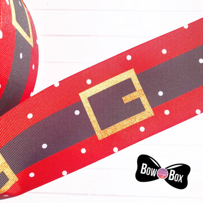 Santa's Belt Grosgrain Ribbon 2'' or 3''