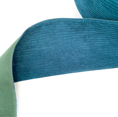 Teal Corduroy Ribbon 3''