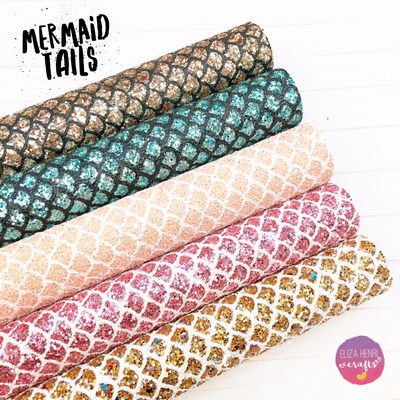 Mermaid Scales Chunky Glitter Fabrics
