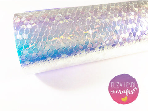 Mermaid Honeycomb Transparent Glitter Shimmer Fabric