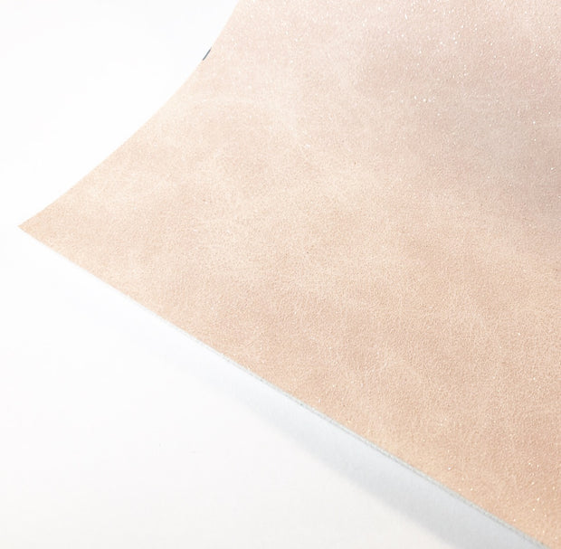 Pastel Glitter Suede Style Leather Fabric