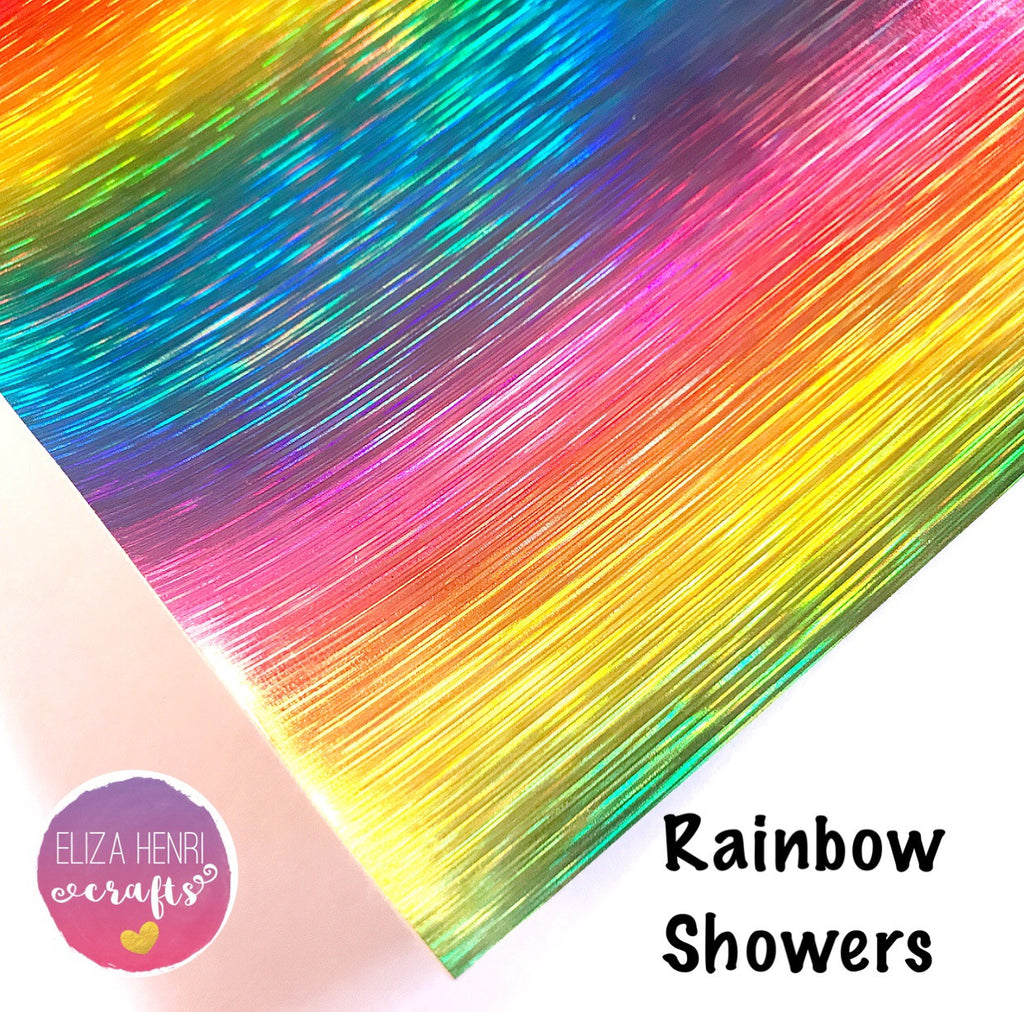 Rainbow Showers Leather Fabric