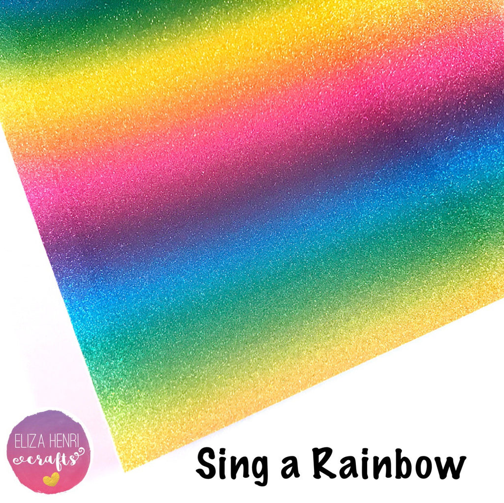 Sing a Rainbow Sparkle Leather Fabric