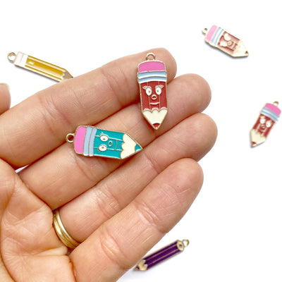 Cute Happy Pencil Charms