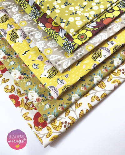 The Autumn Mustard Collection Artisan Fabric Felt