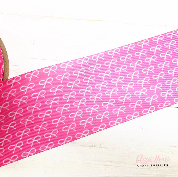 Pink Mini Bows Grosgrain Ribbon 2'' or 3''