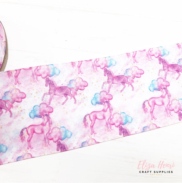Unicorn Purple Daze Grosgrain Ribbon 2'' or 3''