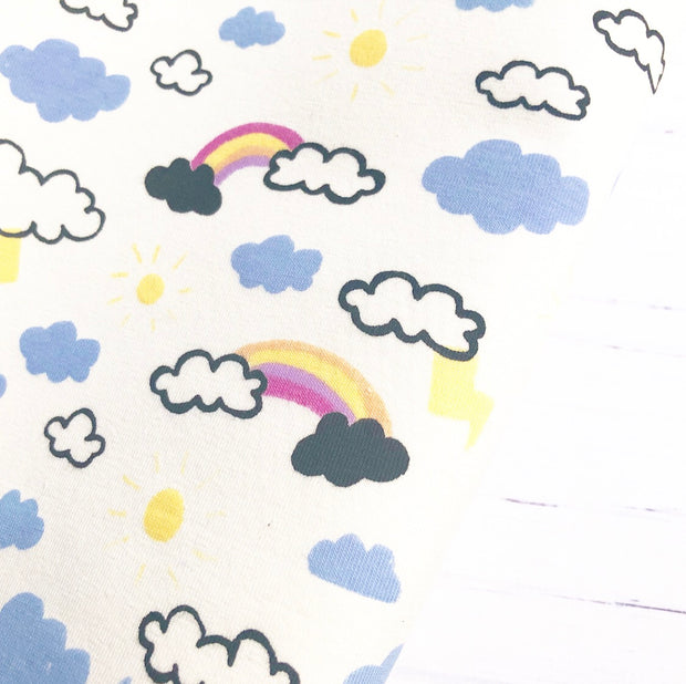 Rainbow Clouds Colour Change Fabric Felt