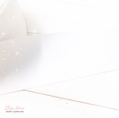 White Glitter Grosgrain Ribbon 3''