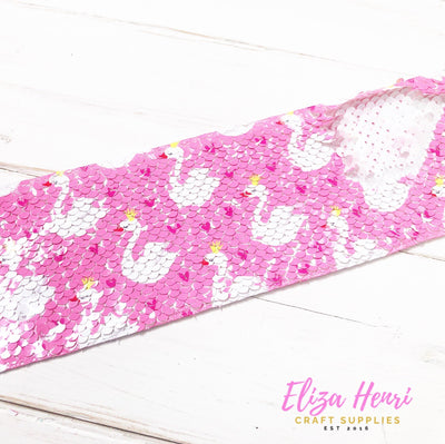 Swan Life Sequin Reversible Ribbon 3''