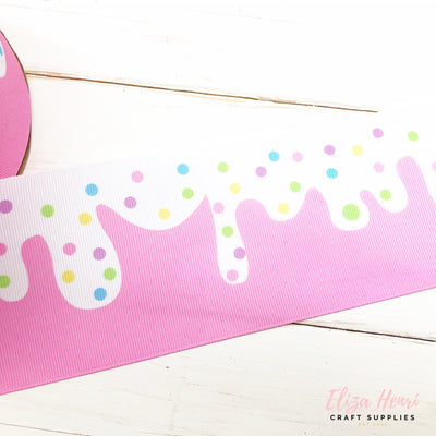 Strawberry Ice Cream Grosgrain Ribbon 2'' or 3''