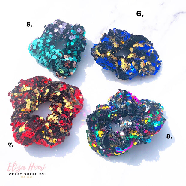 Reversible Sequin Hair Scrunchies