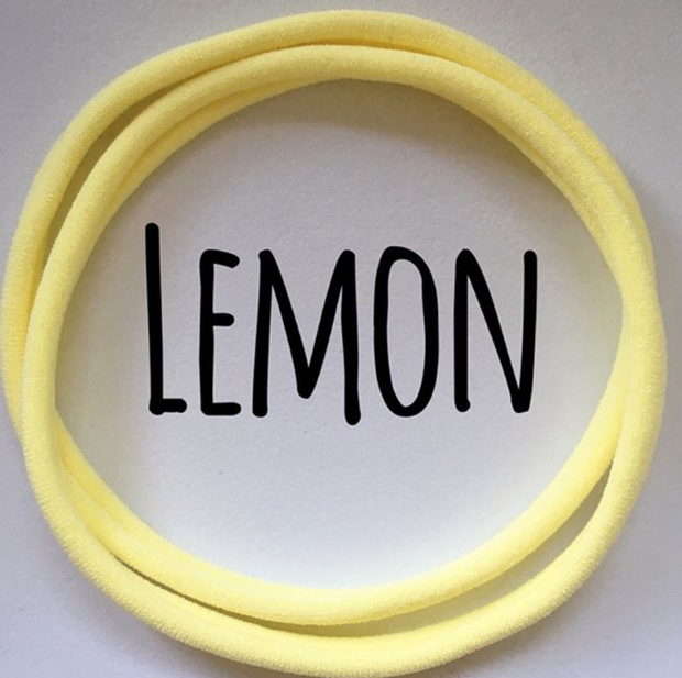 nylon headbands lemon dainties