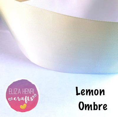 Lemon Ombre Grosgrain Ribbon 3''