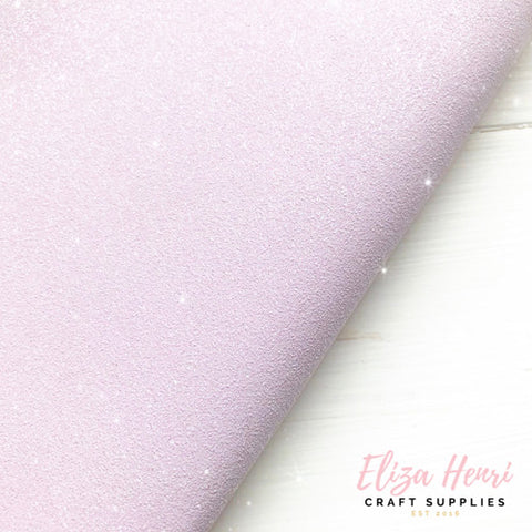 Lilac Pastel Glittery Suedette Fabric