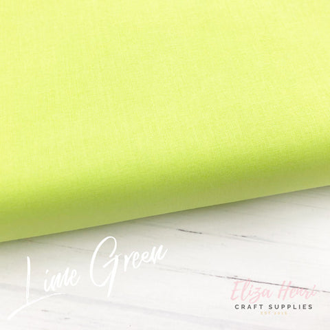lime green 100% cotton fabric