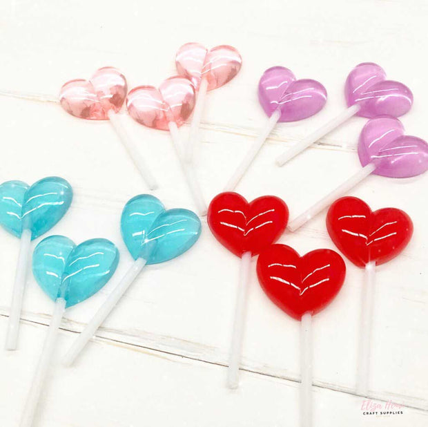 heart lollipop embellishments